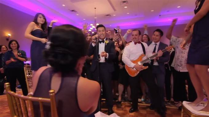 EPIC WEDDING MUSIC VIDEO WITH 250 GUESTS IN ONE TAKE! - YouTube (720p).Still006