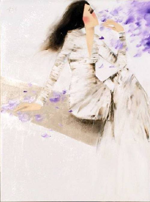 Thuy - lady with purple flower - 2015