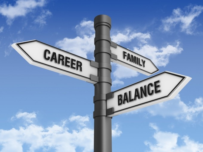 directional-sign-with-family-career-balance