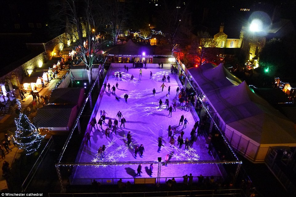 Winchester Cathedral Ice Rink, Winchester.