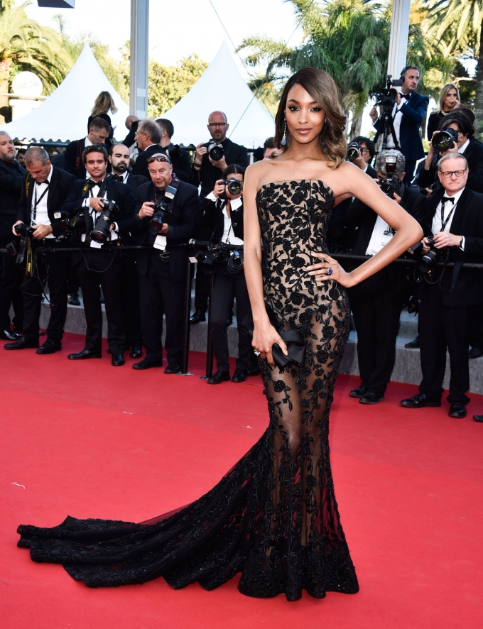 Jourdan Dunn at the Cannes Film Festival on May 22. GETTY
