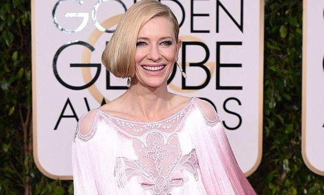 Mandatory Credit: Photo by David Fisher/REX/Shutterstock (5528305dq)  Cate Blanchett  73rd Annual Golden Globe Awards, Arrivals, Los Angeles, America - 10 Jan 2016
