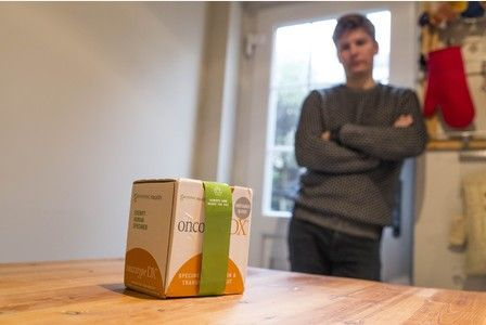 Fed Ex accidentlently delivered a parcel containing a human tumour to James Potten from Redland, Bristol date:10.01.2016 photographer:James Beck/freelance