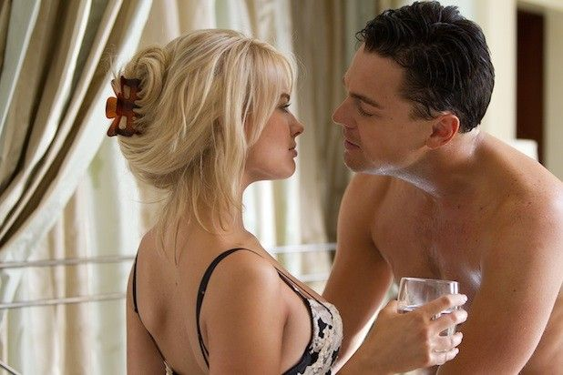 Left to right: Margot Robbie is Naomi Lapaglia and Leonardo DiCaprio is Jordan Belfort in THE WOLF OF WALL STREET, from Paramount Pictures and Red Granite Pictures. TWOWS-03330R
