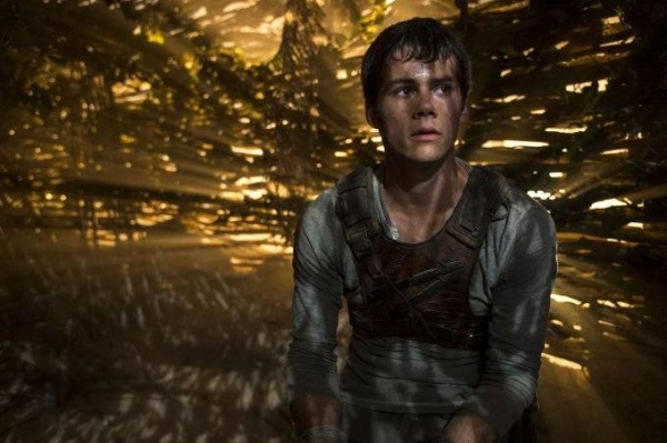 """This photo released by Twentieth Century Fox shows Dylan O'Brien as Thomas in the film, """"The Maze Runner."""" The movie releases in the U.S. on Sept. 19, 2014. (AP Photo/Twentieth Century Fox, Ben Rothstein)"""