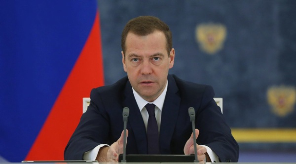 2739020 11/16/2015 November 16, 2015. Russian Prime Minister Dmitry Medvedev chairs a meeting of the Russian government at the Gorki residence near Moscow. Ekaterina Shtukina/Sputnik