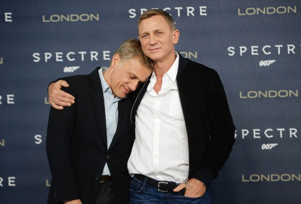 """LONDON, ENGLAND - OCTOBER 22:  Daniel Craig(R) and Christoph Waltz attend a photocall for """"Spectre"""" at Corinthia Hotel London on October 22, 2015 in London, England.  (Photo by Dave J Hogan/Dave J Hogan/Getty Images)"""