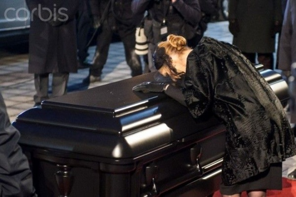 22 Jan 2016, Montreal, Quebec, Canada --- Jan. 22, 2016 - Montreal, Canada - CELINE DION at the funeral of Rene Angelil, her husband and manager, at Notre-Dame Basilica. (Credit Image: © Chantal Levesque via ZUMA Wire) --- Image by © Chantal Levesque/ZUMA Press/Corbis