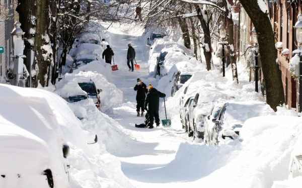 17 jonas Residents dig out their cars on a street in Boston