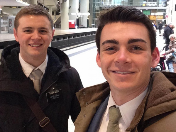 Mormon missionaries Mason Wells (leflt) and Joseph Empey were both were injured in Tuesday's explosion at the Brussels airport AP