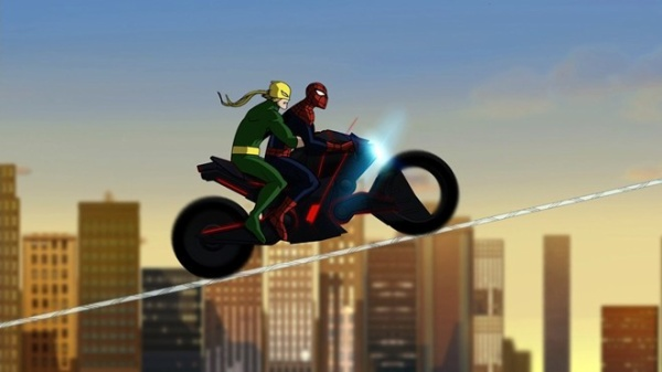 """ULTIMATE SPIDER-MAN - """"Strange"""" - When everyone in New York City is caught in a mystical slumber, Spider-Man and Iron Fist seek out the help of Dr. Strange, master of the mystic arts. In order to wake the city, Spider-Man and Iron Fist must face their own personal nightmares, in a new episode of """"Ultimate Spider-Man,"""" SUNDAY, JULY 8 (11:00 -11:30 a.m., ET/PT) on Marvel Universe on Disney XD. (DISNEY XD) IRON FIST, SPIDER-MAN"""