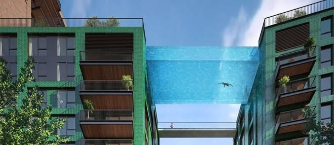 Bể bơi Sky - Kiến trúc bể bơi tren lơ lửng trên không
