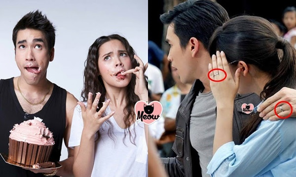 Cặp đôi vàng của màn ảnh Thái từng làm fan háo hức vì phát hiện đeo nhẫn đôi ở ngón áp út.