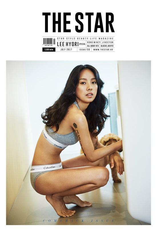 Thân hình săn chắc và nóng bỏng trong trang phục đồ lót của Calvin Klein. Có vẻ ít ai được như Lee Hyori khi chẳng cần làm chiêu trò gì cũng thu phục được fan với vẻ đẹp thu hút chết người của mình.