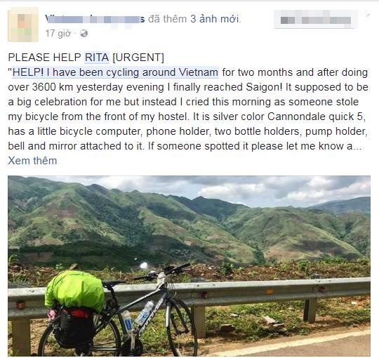 Cộng đồng mạng kêu gọi giúp đỡ để cô sớm có thể tiếp tục hành trình của mình.