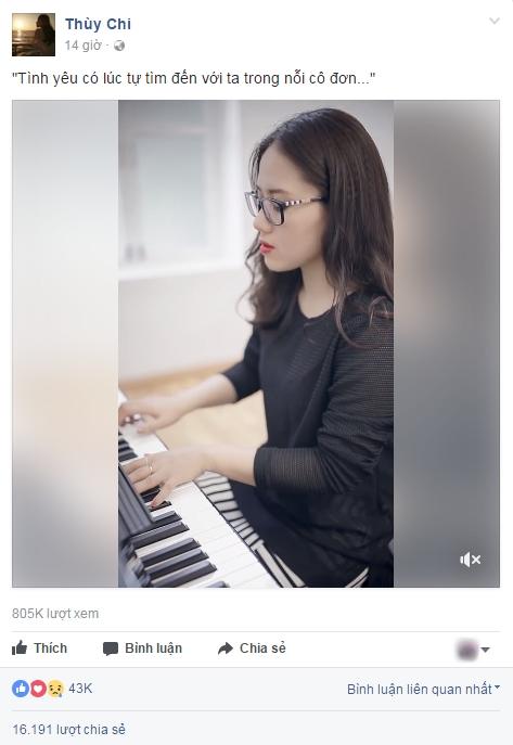 Ca khúc nhận được lượt tương tác và chia sẻ khủng trên fanpage chính thức của Thuỳ Chi.