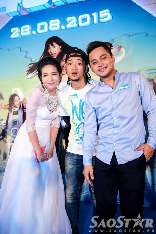 Bộ 3 con ma trong phim: Khả Như, Hoàng Phi và La Thành.