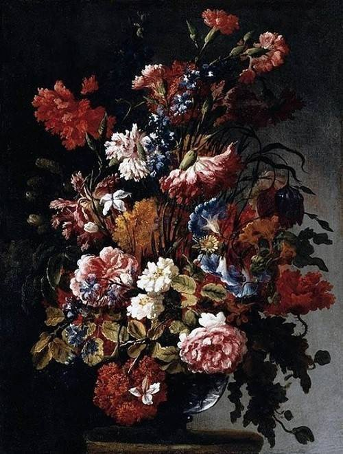 """Bức tranh """"Flowers"""" của danh họa Paolo Porpora, có giá 1,5 triệu USD."""