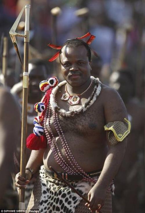 Chân dung Quốc vương Mswati III.