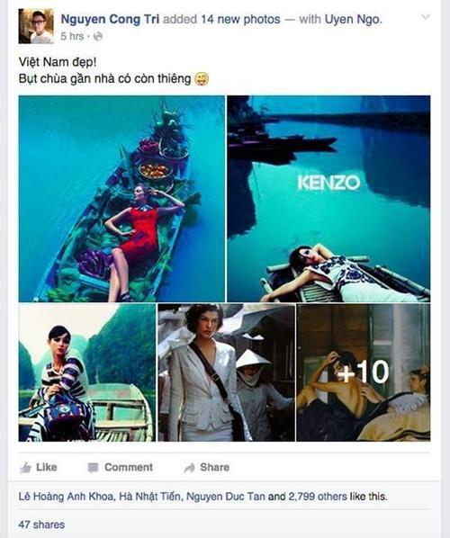 Phát hiện mới mẻ về những chiến dịch quảng bá, bộ hình thời trang quốc tế được thực hiện tại Việt Nam của NTK Công Trí nhanh chóng thu hút được sự quan tâm cao độ từ giới mộ điệu.