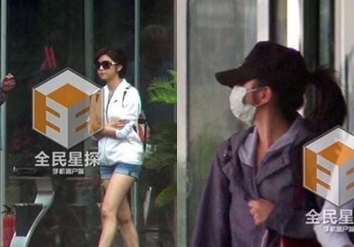 Trần Nghiên Hy ra vào khách sạn kín đáo vào đầu tháng 7.