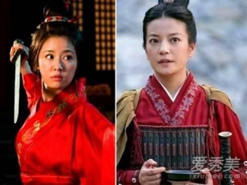 Lâm Tâm Như và Triệu Vy thể hiện vai Tôn Thượng Hương.