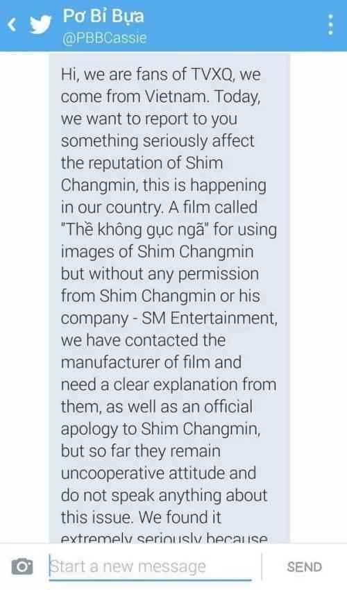 Đơn thư gửi lên SM Entertainment.