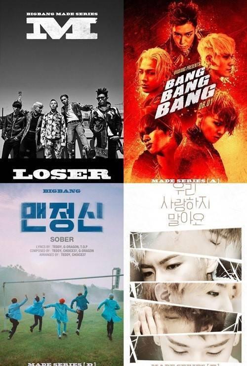 Các ca khúc của Big Bang trong album mới MADE đều đạt lượng xem cao trên Youtube.