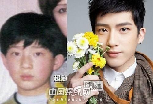 Tỉnh Bách Nhiên trước kia đẹp trai và có nét của một cậu bé Hàn.