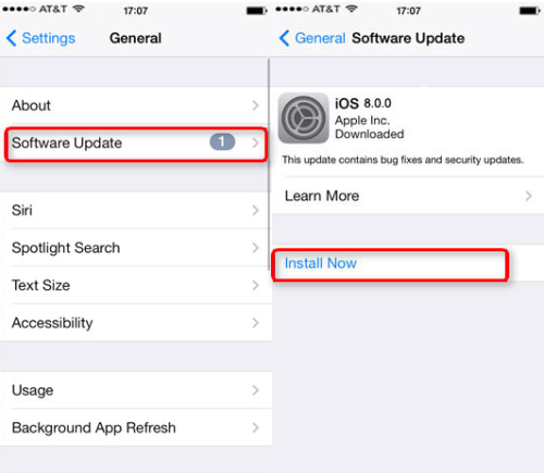 Hãy nâng cấp máy lên íP 8.4.1 trước khi nghĩ đến iOS 9