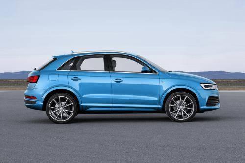 Audi Q3 mới có trọng lượng 1.640 kg. Các kích thước của chiếc SUV nhỏ gọn gần như không thay đổi: dài 4,39m, rộng 2m, và cao 1,6m. Chiều dài cơ sở là 2,6m.
