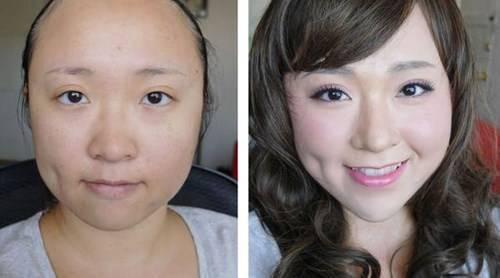 Gương mặt sau khi trang điểm hoàn chỉnh với phần mũi thon gọn hơn hẳn ban đầu, khiến khuôn mặt thanh nét hài hòa hơn.