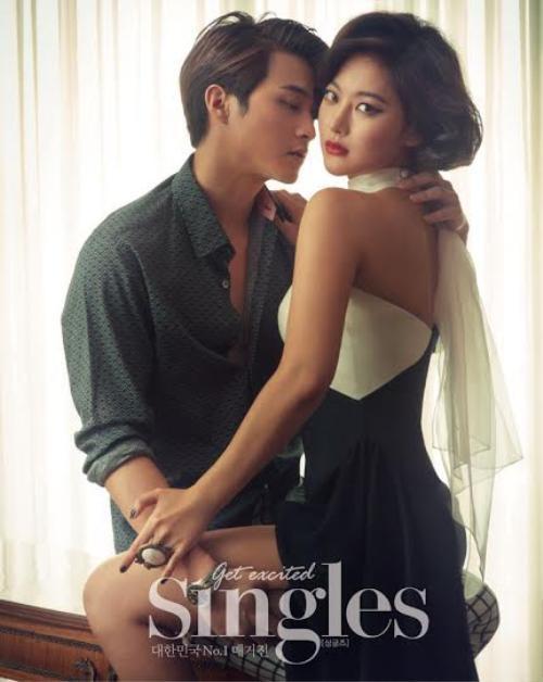 Người đẹp Oh Yeon Seo và bạn diễn Kim Ji Hoon của bộ phim Jang Bo-ri Is Here! nồng nàn trên shoot hình cho tạp chí Singles.