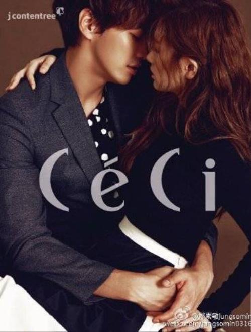Người đẹp Jung So Min và bạn diễn Kim Yung Kwang quấn quýt như đôi tình nhân thật sự trên ấn phẩm Ceci tháng 9/2015. Hai diễn viên vào vai cặp đôi trong bộ phim mới D-Day sắp lên sóng.