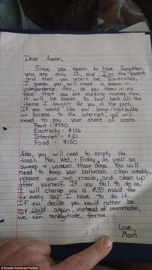 Bức thư Estella Havisham gửi cho cậu con trai ngỗ ngược.