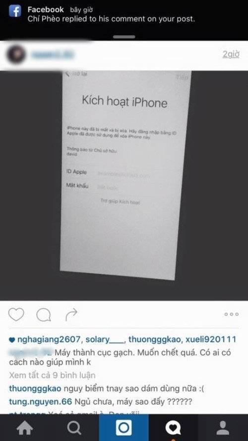 Một bạn gái bị khóa iPhone, đang kêu gọi sự giúp đỡ.