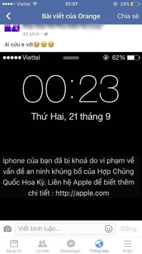 Một thông báo oái ăm đến từ Apple.