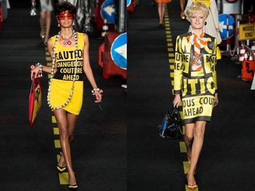 Thông điệp giao thông được in lên những bộ trang phục với màu sắc rực rỡ.