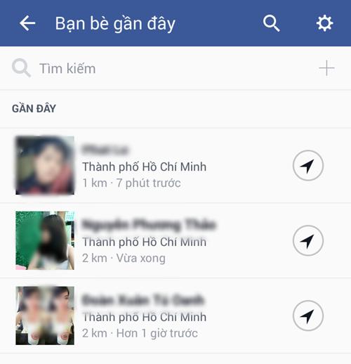 Nearby Friends chỉ hiển thị thông tin của những ai đồng ý cho chia sẻ địa điểm và là bạn của bạn trên Facebook.