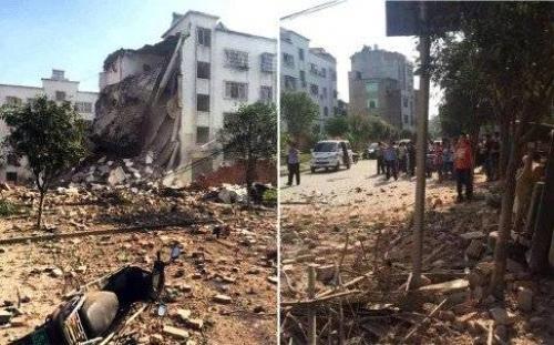 Cảnh tượng ngổn ngang sau các vụ nổ (Ảnh: SCMP).
