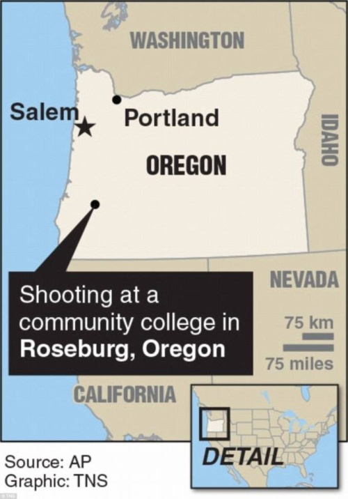 Vụ nổ súng xảy ra vào khoảng 10h30 sáng thứ Năm (1/10), khi các sinh viên trường ĐH Umpa đang trong giờ học.