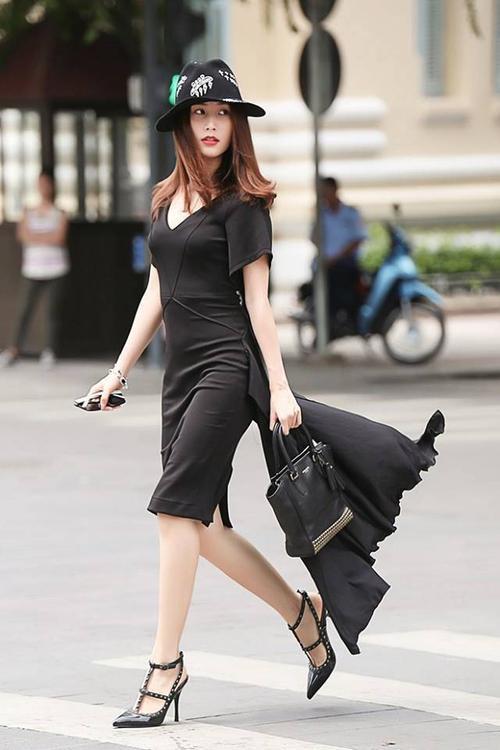 Diễm My 9x lựa chọn thiết kế của Hoàng Nguyễn cho bộ ảnh style street.