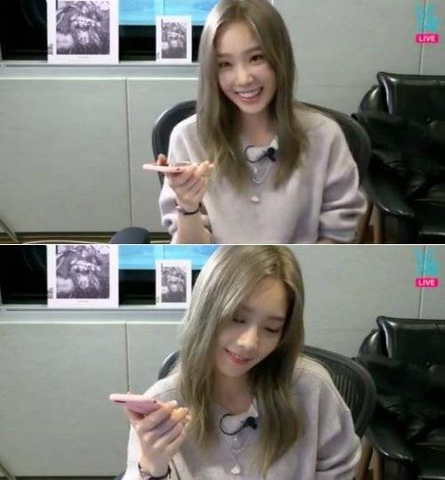 Taeyeon lên sóng ứng dụng V hôm 6/10.