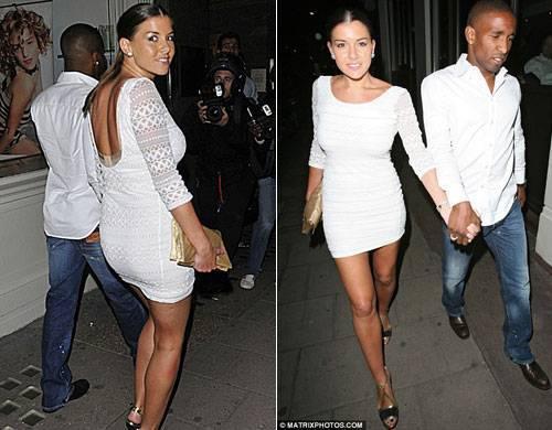 Imogen Thomas cùng người tình cũ của hoa hậu Anh 2006 Jermain Defoe.