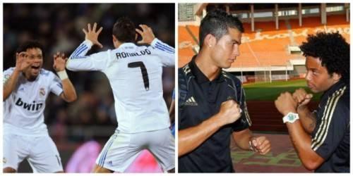 Cristiano Ronaldo và Marcelo