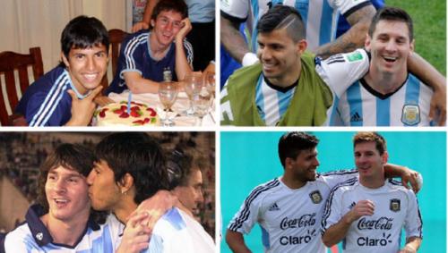 Sergio Aguero và Lionel Messi