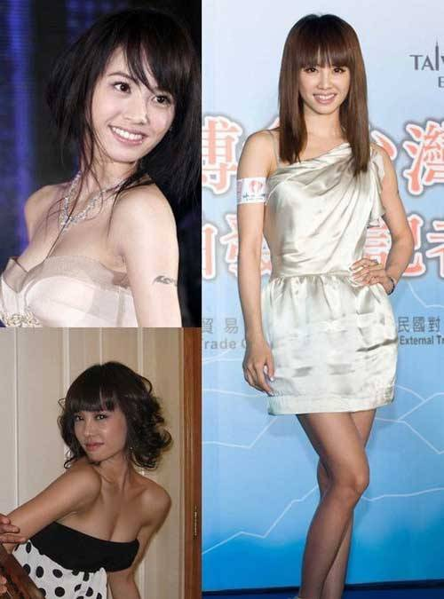 Thái Y Lâm luôn đỏ bừng mặt khi bị hỏi về chuyện trùng tu vòng một. Có thể thấy Diva Đài Loan không tự tin với đôi gò bồng đào của mình trong một thời gian dài trước khi tút tát.