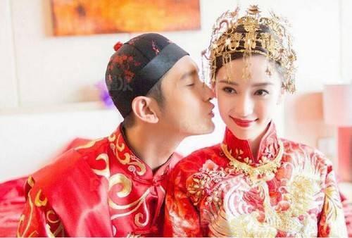 Người đẹp hạnh phúc trong đám cưới với Huỳnh Hiểu Minh.