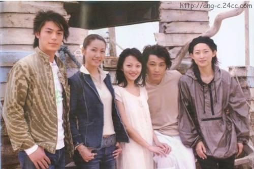 Hoắc Kiến Hoa (ngoài cùng trái) và Trương Thiều Hàm (ở giữa) từng có thời gian bị đồn yêu nhau khi hợp tác chung.