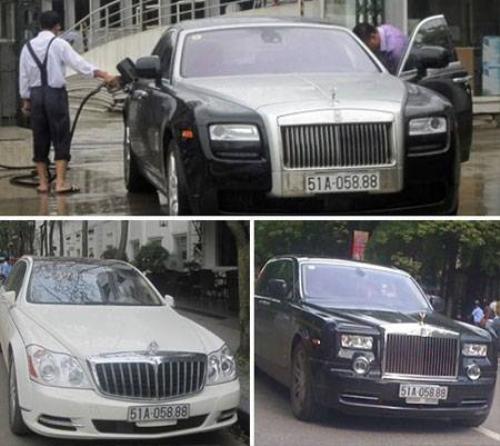 Rolls-Royce Ghost, Maybach 62S và Rolls-Royce Phantom year of the Dragon dùng chung biển số.